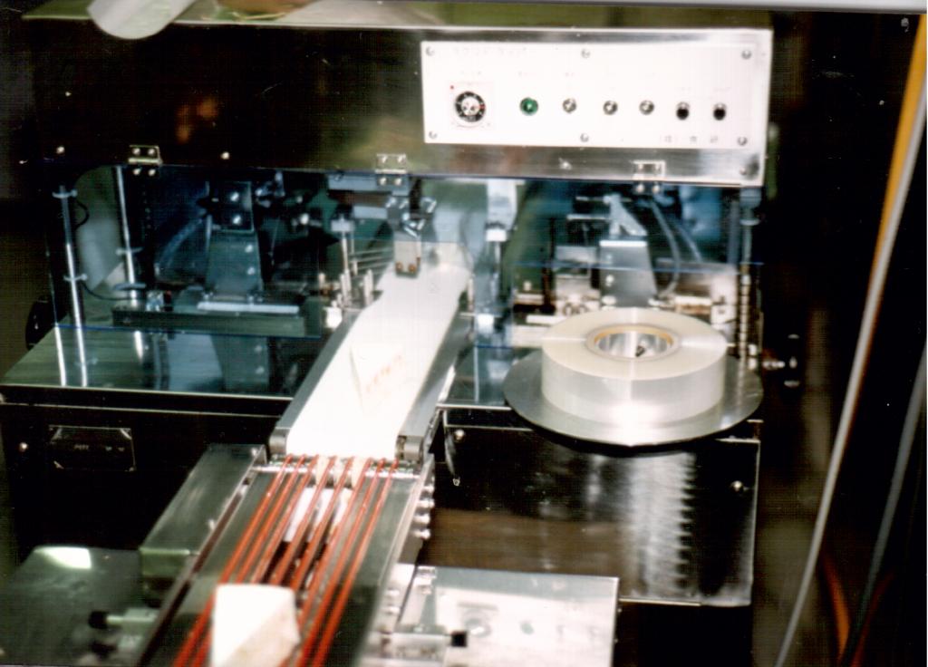 Cake wrapping machine Tokyo 1990