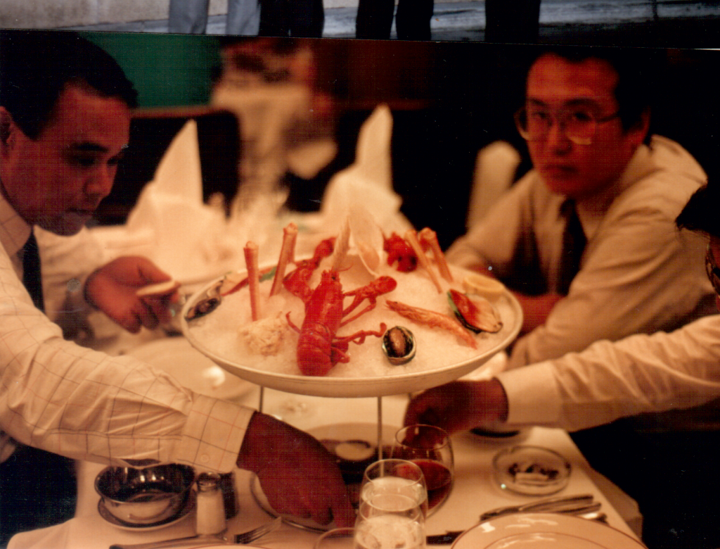 Dinner with Skylark people 1990
